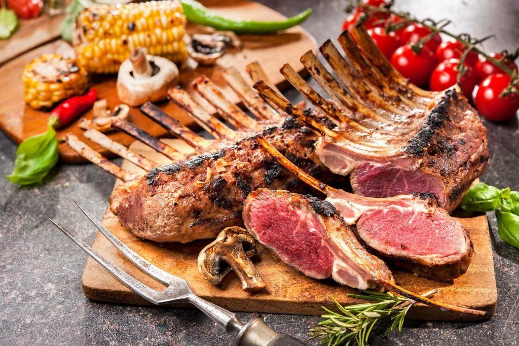 Boucherie halal en ligne - côte d'agneau grillée